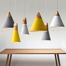 Wood Pendant DIY Modern Ceiling Hanging Lamp Lighting Kitchen Chandelier Fixture