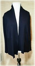 89TH & MADISON Women's Navy Blue Knit Open Front Cardigan Sweater Size S