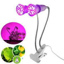 Full spectrum Dual led Plant Grow light set flower Greenhouse desk clip holder