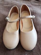 Girls SoDanca Tan Nude Beige Tap Shoes Size 13