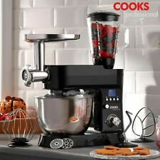 Cooks Professional Stand Mixer Mincer 10 Speed Mixing Bowl Dough Hook 1200W