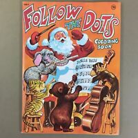 Vintage Christmas Follow The Dots dot to dot coloring book 1981 Waldman unused