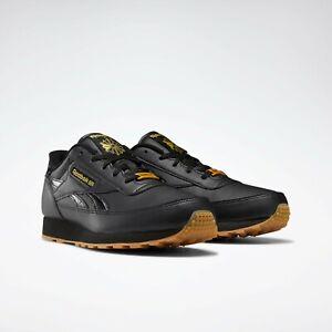 Men's Reebok  Classic Renaissance Wide 4E Shoe Black / Matte Gold Original New