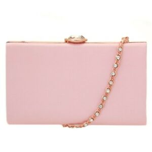 Ted Baker Womens Light Pink Occasion  Clutch Bag Genuine