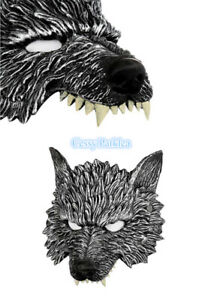 T2 Unisex Latex Big Bad Wolf Mask Horror Halloween Animal Face Costume Accessory