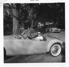Vintage Photo Snapshot B & W Wilmington NC 1961 MG MGA Roadster Jacksonville ,FL
