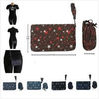 Fashion Women Ladies Zipper Closure Small Wallet Size Crossbody Shoulder Bag