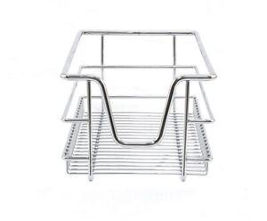 Storage Baskets Kitchen Slide Out 3 x 300mm Cabinet Organiser Pull Soft Close