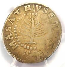 1652 Massachusetts Pine Tree Shilling 1S - PCGS Fine Details - Rare Coin!