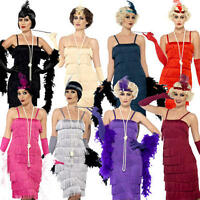 1920s Flapper Ladies Fancy Dress Charleston Jazz Dance Womens Adults Costume New