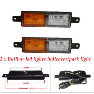Pair of ABS Car Suv Truck Universal Front Indicator Park Led Bull Bar Light Kit