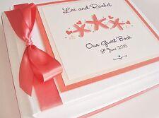 Handmade Personalised Starfish Beach Themed Wedding Guest Book