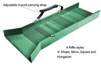 "30"" Light Weight Green Sluice Box With Shoulder Strap & 2 Carabineer sluicebox"