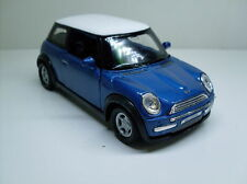 Mini Cooper Blue, Welly Car Model approx. 1:3 4 - 1:3 8, NEW