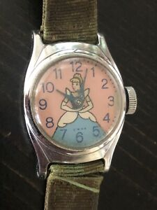 1950's Cinderella Watch US Time Chrome Plated Bezel Manual Wind.