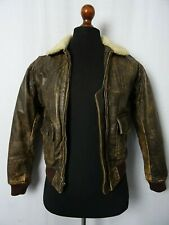 Men's Vintage 2000's Banana Republic Cowhide Flight Leather Jacket 36R