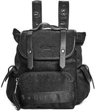 NEW GUESS Women's Kacee Black Logo Debossed Mini Backpack Bag Handbag Purse