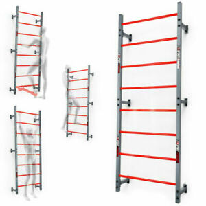 GYMNASTIC SWEDISH LADDER WALL BARS 215 cm  STEEL INDOORS/OUTDOORS