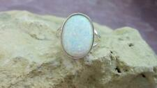 925 Sterling Silver Natural Certified 5.25 Carat opal Gemstone  Ring