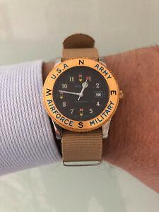 Orologio vintage military watch BULOVA Bombardiere U.S.A. ARMY AIRFORCE Swiss m.