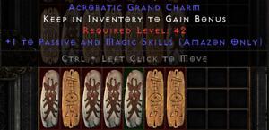 Diablo 2 Resurrected (D2R) Battle.net (PC) Amazon Passive / Magic Skill Charm