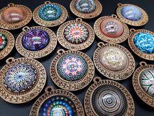 2 Auf 30 Anhänger Grundlagen Holz 38mm Für Keychain Halsketten Ethnische, Glas