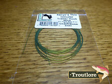 CHARTREUSE HARELINE SENYO'S THIN INTRUDER TRAILER HOOK WIRE NEW FLY TYING