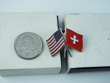 AMERICAN & SWITZERLAND FLAGS PIN