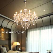 Lámpara Colgante 10 Luz E14 Iluminación Araña de Cristal para Dormitorio Comedor