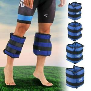 Ankle Weights Adjust Leg Wrist Strap Running Training Fitness Gym Straps 3-6KG
