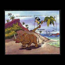 Gambia, Sc #1113, Mnh, 1991, S/S, Disney, How Rhino's got the skin, Mickey 233