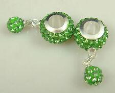 Gorgeous Czech Crystals Dangle Bead fit European Charm Bracelet Earrings g1