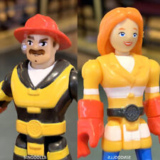 Fisher Price Imaginext Rescue Heroes Fire girl Billy Blazes fireman Wendy Waters