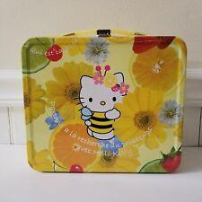 Hello Kitty Bumblebee Citrus Fruit Flower Spring Metal Tin Lunch Box 2003 Bug
