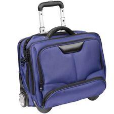 Dermata Business-Trolley Reisekoffer Rollenkoffer 43 cm Laptopfach (blau)