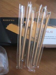100% Authentic Morphe Eye Slay 6 Brush Set Gold Vegan New In Box Holiday