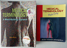 Medical Terminology Word Building Rice & Medical Terminology Easy Dennerll Lot 2