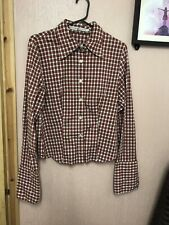 Tommy Hilfiger Vintage 90s Red Checked Shirt Size 12