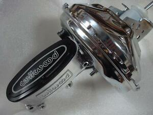 "Wilwood Master Cylinder + Chrome Power 9"" Brake Booster Chevelle Big Block Chevy"