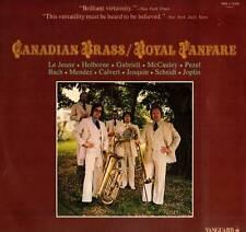 CLASSICAL LP CANADIAN BRASS ROYAL FANFARE BACH GABRIELL SCHEIDT HOLBORNE