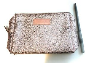 2 Benefit Cosmetics all occasion party favor Makeup Bag Pink Gold Sealed NIP