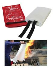 FIRE BLANKET 1m x 1m Quick Release in Red Case Kitchen Fire Extinguisher Safety