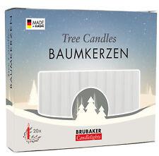 BRUBAKER Tree Candles - Pack of 20 - 9.5 cm - White
