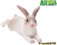 Nuevo Mojo Animal Planet Conejo mintiendo Granja de juguete de plástico sólido roedor del animal doméstico