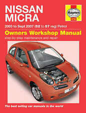 Haynes Nissan MICRA 2003-2007 Workshop Manual 4734