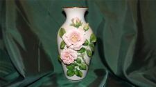 Stunning Celestial Rose Sculptured Vase By Rosanne Sanders Franklin Mint Le 1984