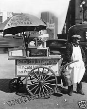 Photograph of New York Hot Dog Cart / Stand Year 1936  8x10