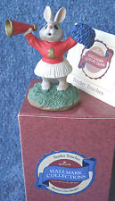 """1990 HALLMARK TENDER TOUCHES 3 1/4"""" GIRL #1 CHEERLEADER """"3 CHEERS FOR YOU"""" NRFB"""