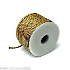 HEMP TWINE STRING CORD 2MM ROUND NATURAL COLOR 25 METER ROLL HT3