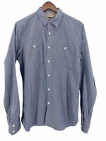 Banana Republic Mens Blue Heritage Collection Tailored Slim Fit Shirt Size Small
